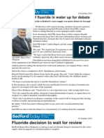 Bedford Times and Citizen F Articles and Stephen Peckham Letter October 2014