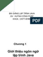 Bài giảng lập trình java - GV Huỳnh Công Pháp.ppt