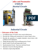 Unit - IV Hydraulics and Pneumatics