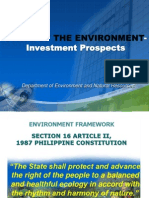 Lecture on the State of Philippine Environment