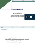 Course Introduction Slides