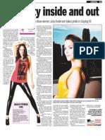 Julia Anderson, Keeping Fit, Sun Media (Aug. 17, 2009)