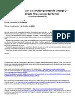 Guia Instalacion de Server Lineage 2 Con L2J PkNation
