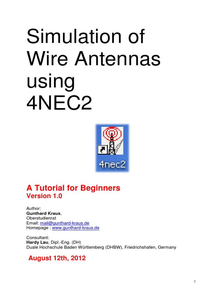 Tutorial 4NEC2 pdf   Antenna (Radio)   Electromagnetism