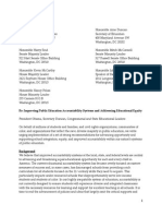 Civil Rights Groups Letter of Recommendations to Gov. Leaders on Improving Accountability Systems in Public Ed.