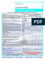 Combat Engineering and Technical Applicants 2013