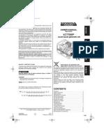 Handleiding en Instructieboekje Honda ECT7000P Aggregaat - Engels