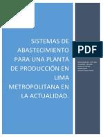 Sistemas de abastecimiento para una planta de producción en Lima Metropolitana en la actualidad.docx