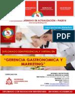 Diplomado en Gerencia Gastronómica y Marketing