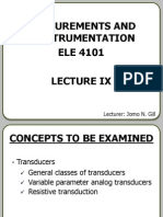 Transducers (lecture notes)