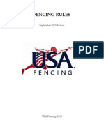 USA Fencing Rules - September 2010