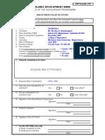 Idb - Plan of Study Form
