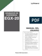 egx-20 manual español