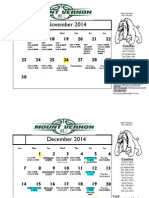 2014-2015 Current Practice and Game Schedule