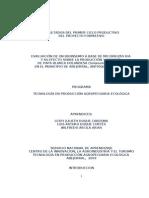 Proyecto Formativo Papa Abejorral Result a Dos Primer Ciclo Productivo