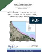 EVALUACIÓN DE LA CALIDAD DEL AGUA EN LA FRANJA COSTERA SUR DEL RÍO DE LA PLATA MEDIANTE MODELACIÓN NUMÉRICA - Evaluación de la Calidad del Agua en la Franja Costera Sur del Río de la Plata mediante Modelación Matemática II
