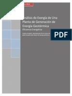 Análisis Exergético Binary Geothermal Power Plant