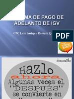 Sistema de Pago de Adelanto de Igv