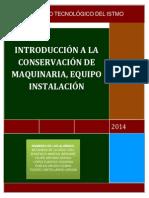 Unidad 4 Introducción a La Conservación de Maquinaria, Equipo e Instalacion