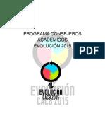 Programa Consejeros Académicos EVOLUCIÓN 2015