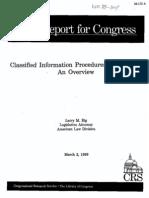 Classified Information Procedures Act (CIPA)