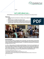GVI Fiji Achievement Report September 2014.Dawasamu- Sexual Health Workshops at DSS