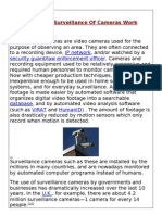 How Does Surveillance of Cameras Work