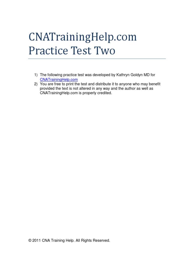 Cna practice test cardiopulmonary resuscitation wellness 1betcityfo Gallery