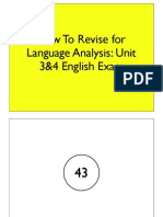 Language Analysis Exam Revision 2013