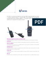 BFDX BF-TD501 DMR Digital Walkie Talkie