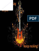 Tarjeta Cumple Guitarra Rock