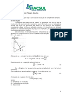Roteiro – Experimento Pêndulo Simples.