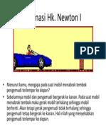 Animasi Hukum Newton 1