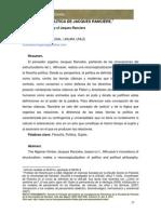 LA FILOSOFÍA POLÍTICA DE JACQUES RANCIÈRE.cière