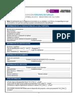 Anexo 1 - Formulario de Participación Persona Natural 2013