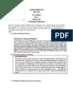 MK0002Consumer Behavior Set1 and 2 Assignment