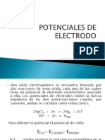 Potenciales de Electrodo