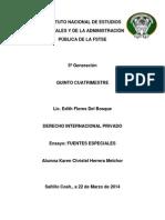 ENSAYO Derecho Internacional Privado.docx