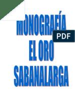 MONOGRAFIA CORREGIMIENTO EL ORO