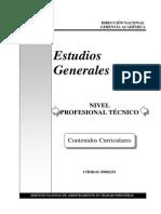 1291 Contenidos Curriculares - Estudios Generales PT