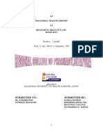 An Industrial Training Report at Biogenetic Drugs Pvt.ltd. Baddi (h.p.)