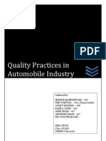 Quality Management and Practises in Automobile sector