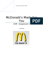 Mcdonalds Made for you