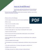 89 Ways to Avoid Divorce