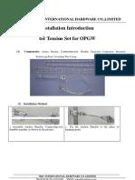 Installation Manual- OPGW Tension Set