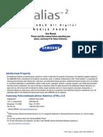 Samsung Alias 2 (u750) fpr Verizon Wireless