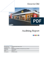 Auditing Assignement mcdonalds