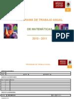 Formato (Pat) Programa de Trabajo Anual de Matemáticas 2010-2011