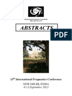 Abstracts on Pragmatic