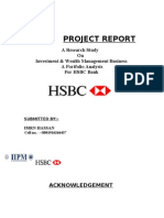 13377261 Internship Report on HSBC